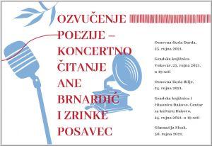 Ozvučenje poezije - koncertno čitanje Ane Brnardić i Zrinke Posavec